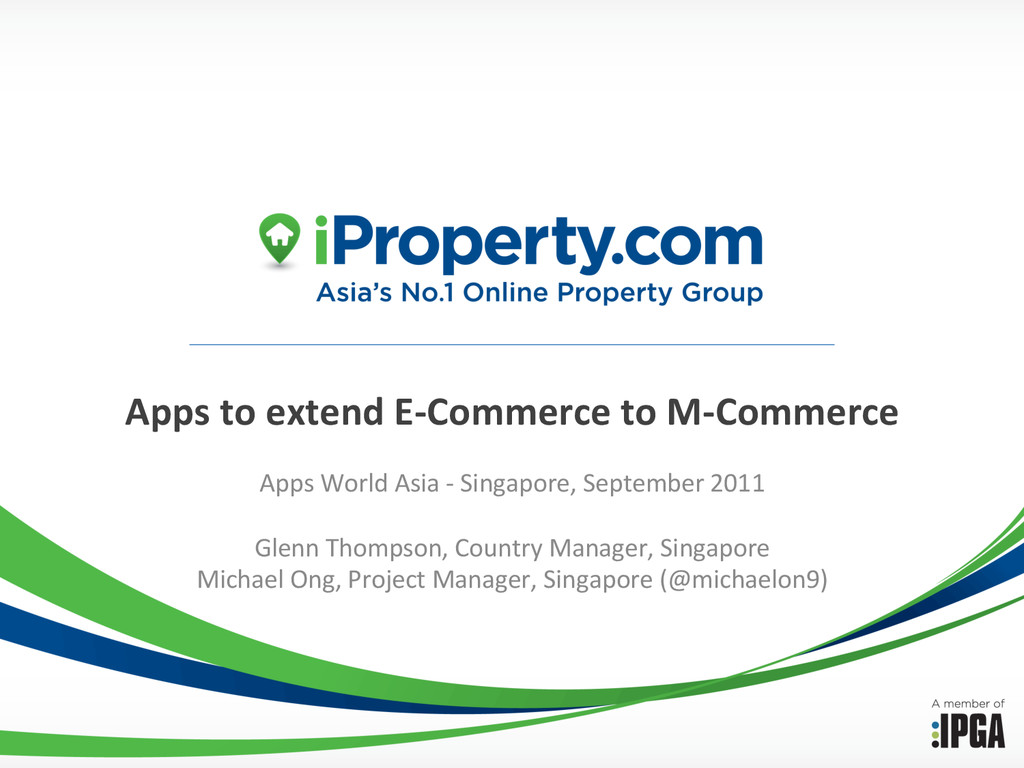 Apps to extend E-‐Commerce to M...
