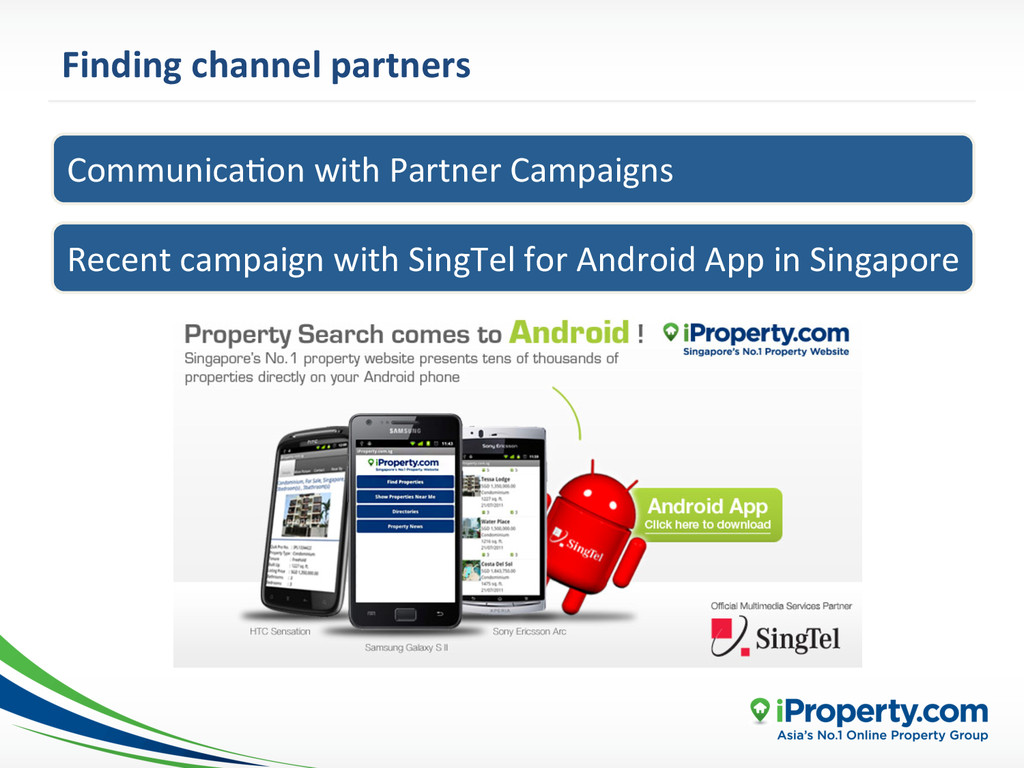 Finding channel partners  CommunicaYon...