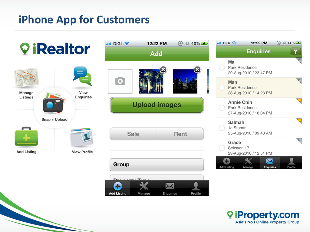 iPhone App for Customers