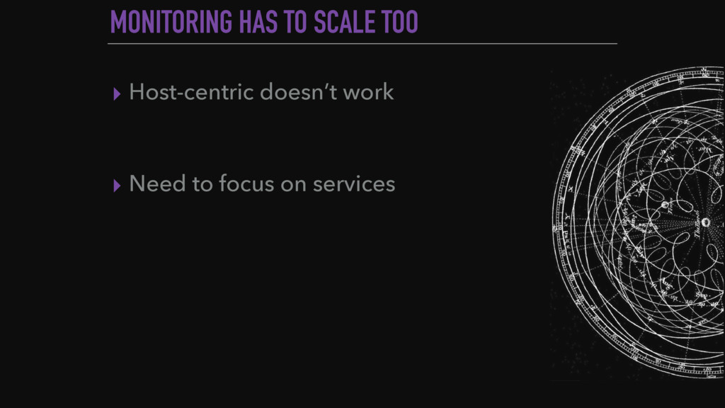 MONITORING HAS TO SCALE TOO ▸ Host-centric does...