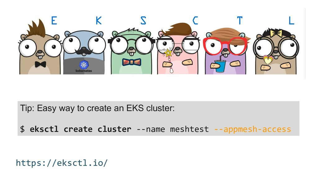 https://eksctl.io/ Tip: Easy way to create an E...