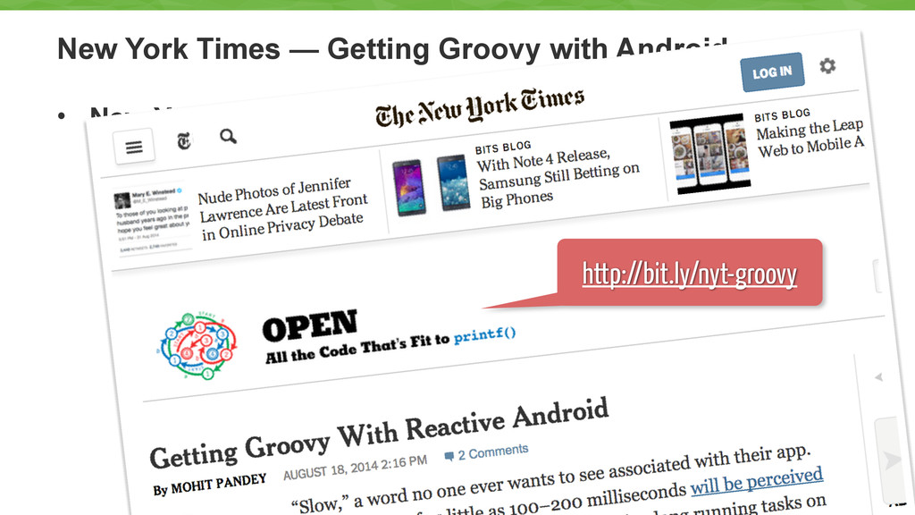 New York Times — Getting Groovy with Android • ...