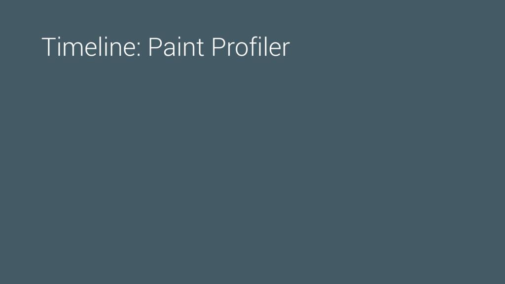 Timeline: Paint Profiler