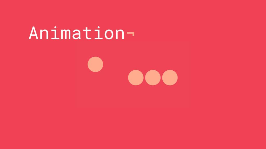 Animation¬