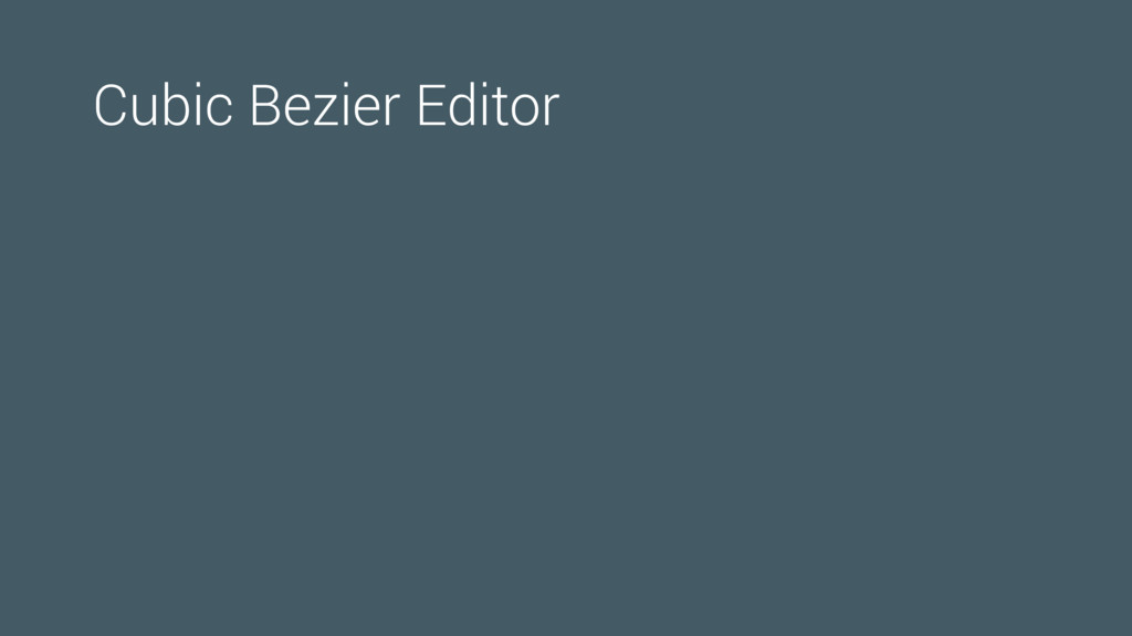 Cubic Bezier Editor