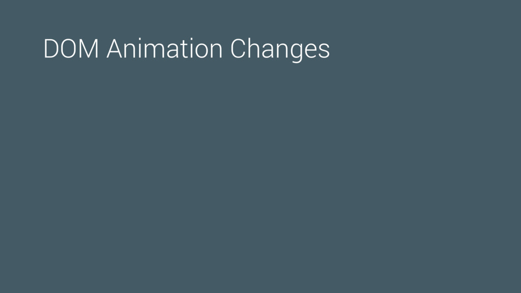 DOM Animation Changes