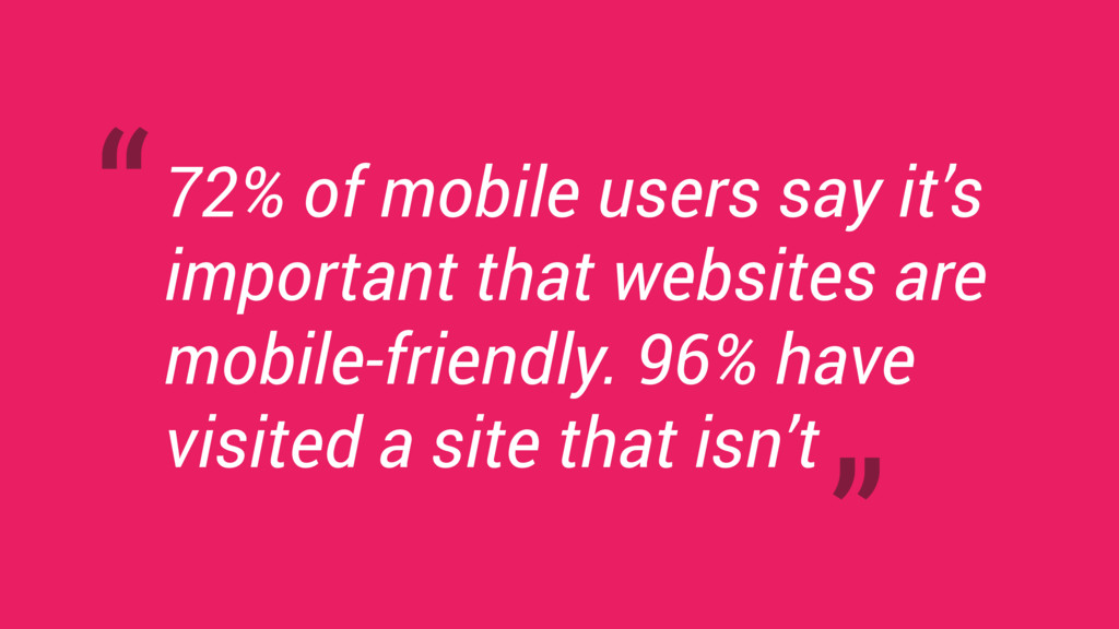 72% of mobile users say it's important that web...