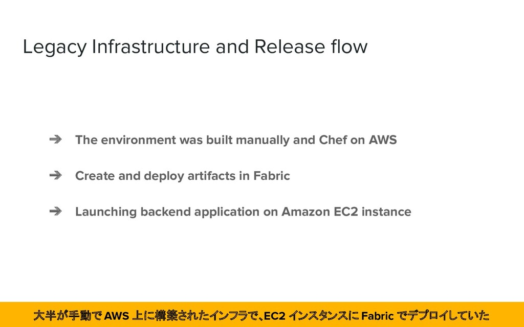 Legacy Infrastructure and Release flow ➔ The env...