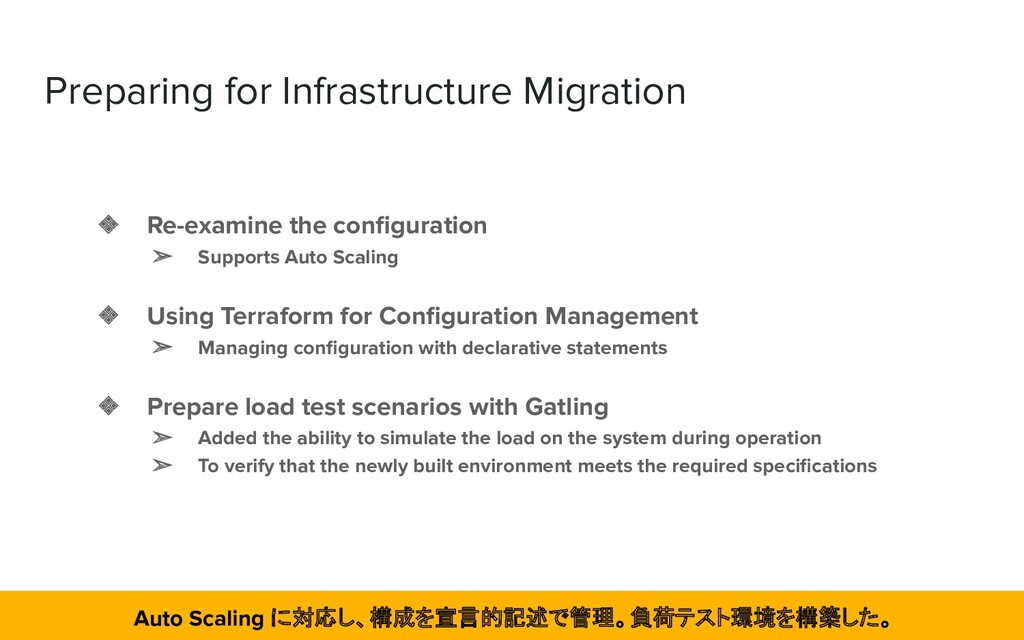 Preparing for Infrastructure Migration ❖ Re-exa...