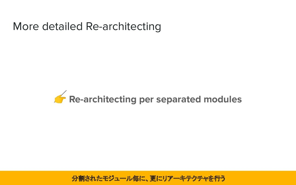 More detailed Re-architecting  Re-architecting ...