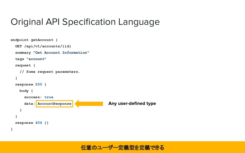 Original API Specification Language endpoint get...