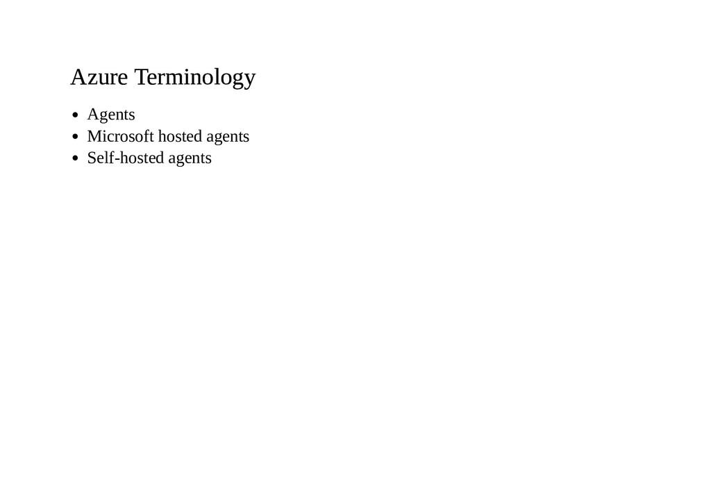 Azure Terminology Azure Terminology Agents Micr...