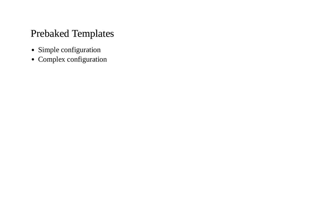 Prebaked Templates Prebaked Templates Simple co...
