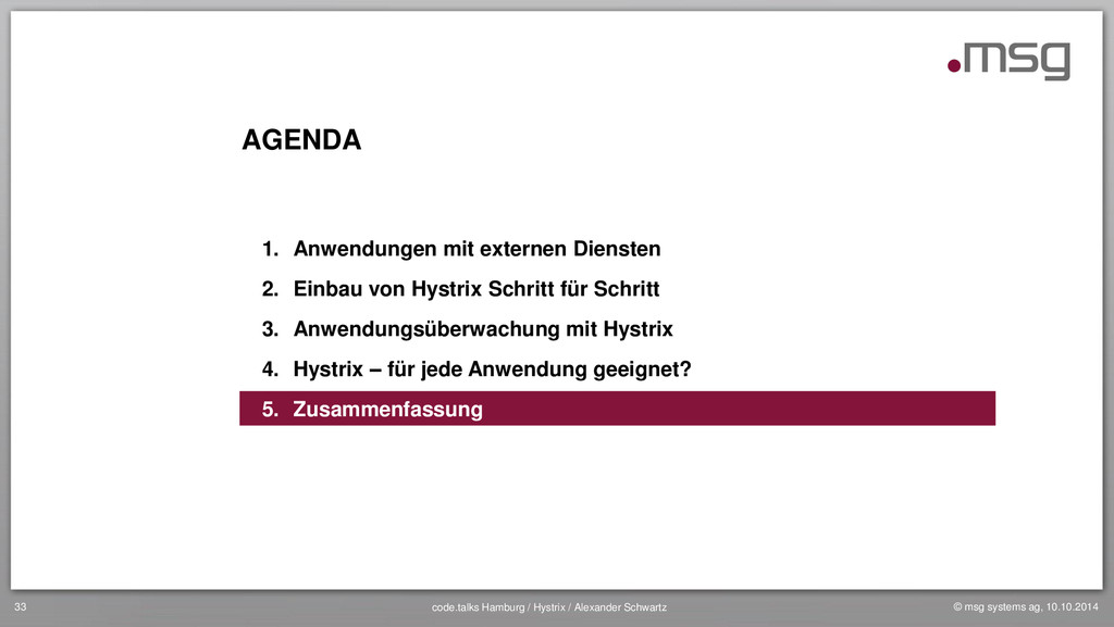 © msg systems ag, 10.10.2014 code.talks Hamburg...