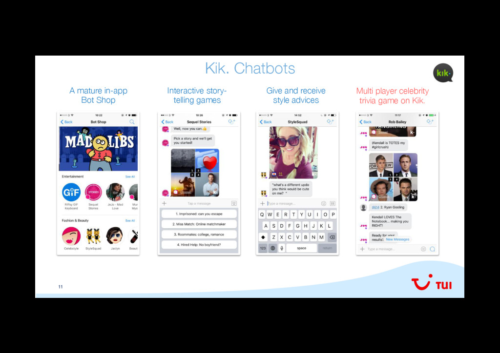 11 Kik. Chatbots