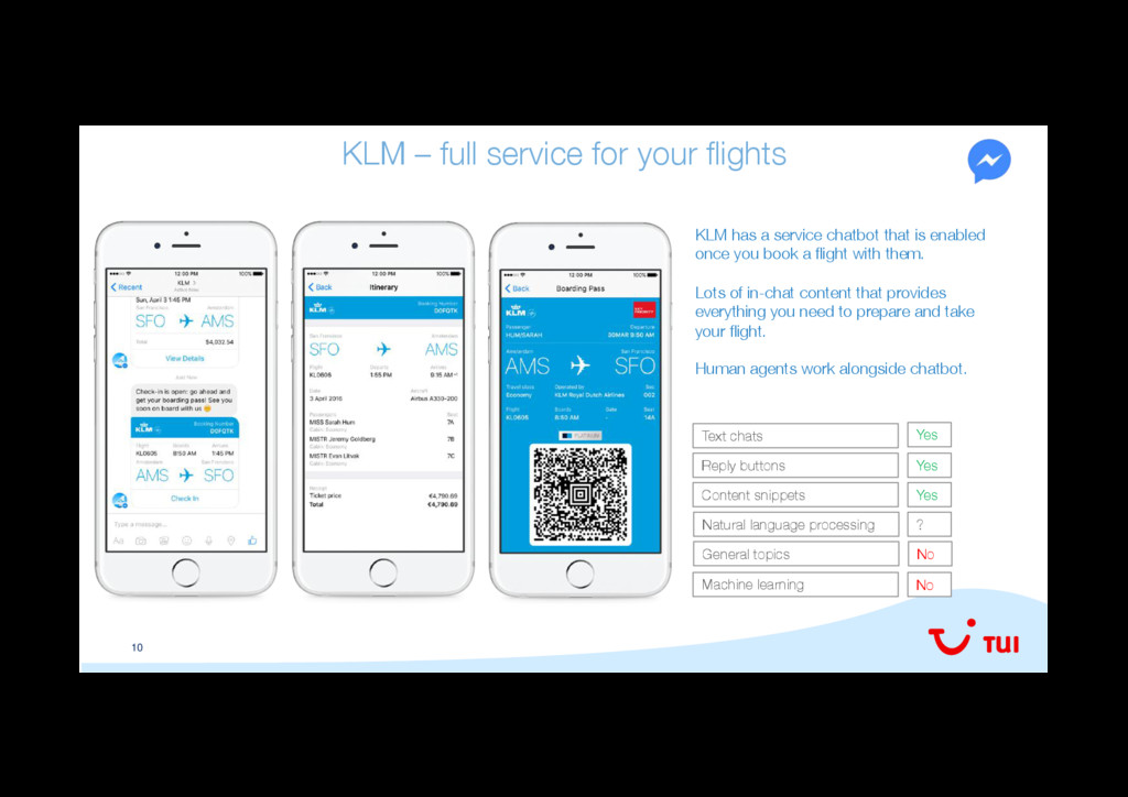 10 KLM – full service for your flights