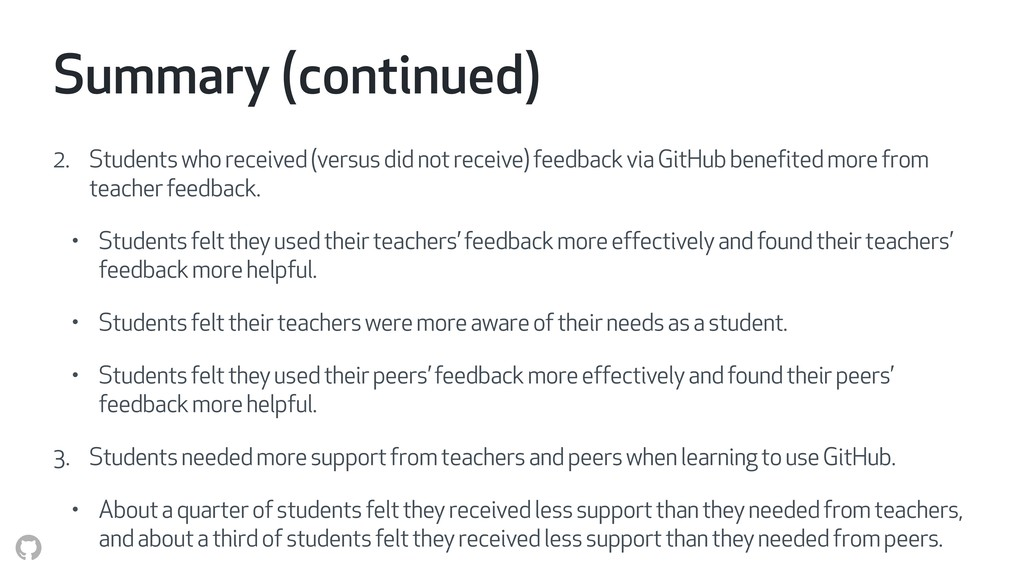 Summary (continued) 2. Students who received (v...