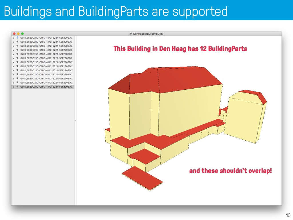 Buildings and BuildingParts are supported 10 Th...