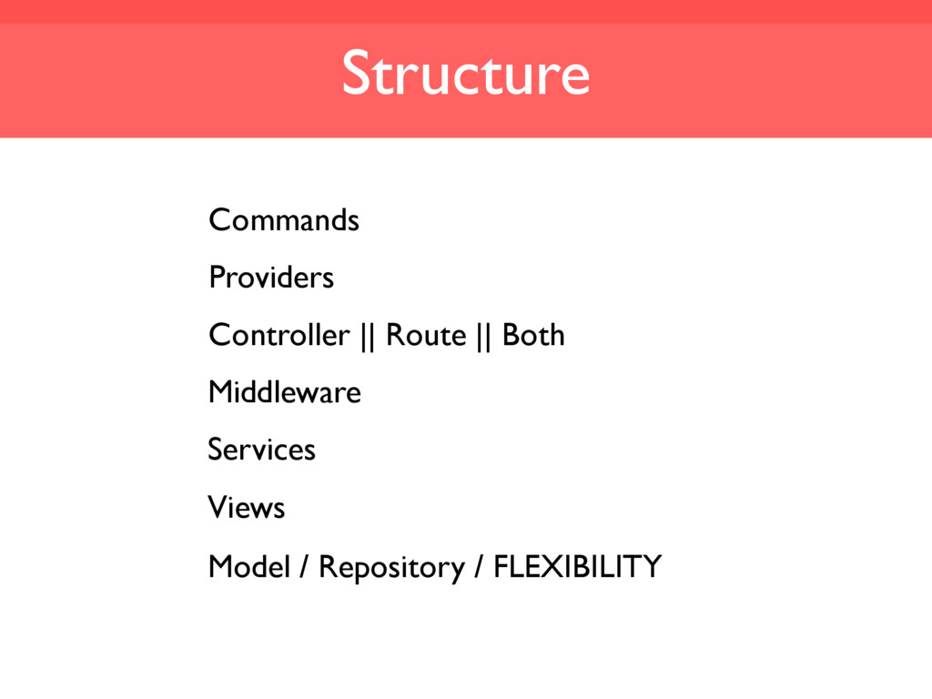 Structure Commands Providers Controller || Rout...
