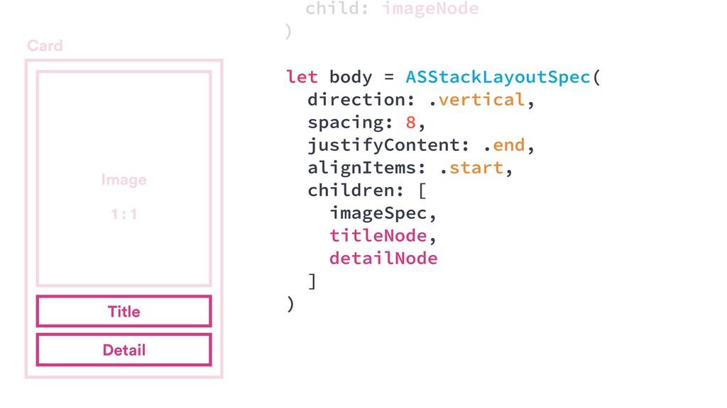 Card Title Detail let body = ASStackLayoutSpec(...