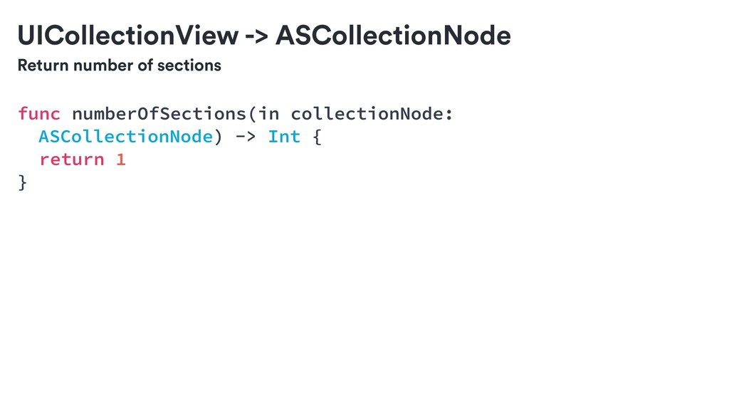 Return number of sections UICollectionView -> A...