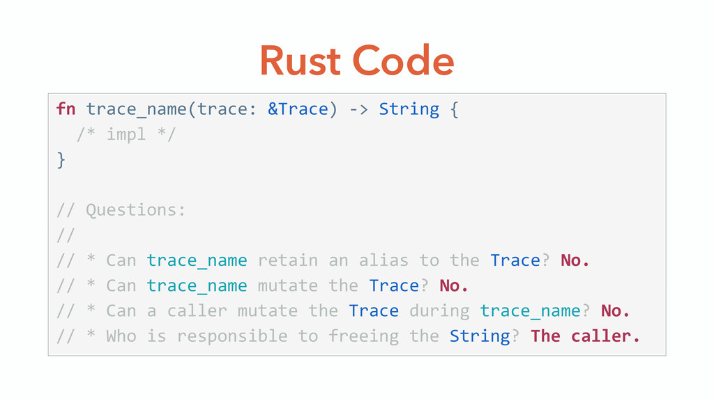 Rust Code fn trace_name(trace: &Trace) -‐> ...