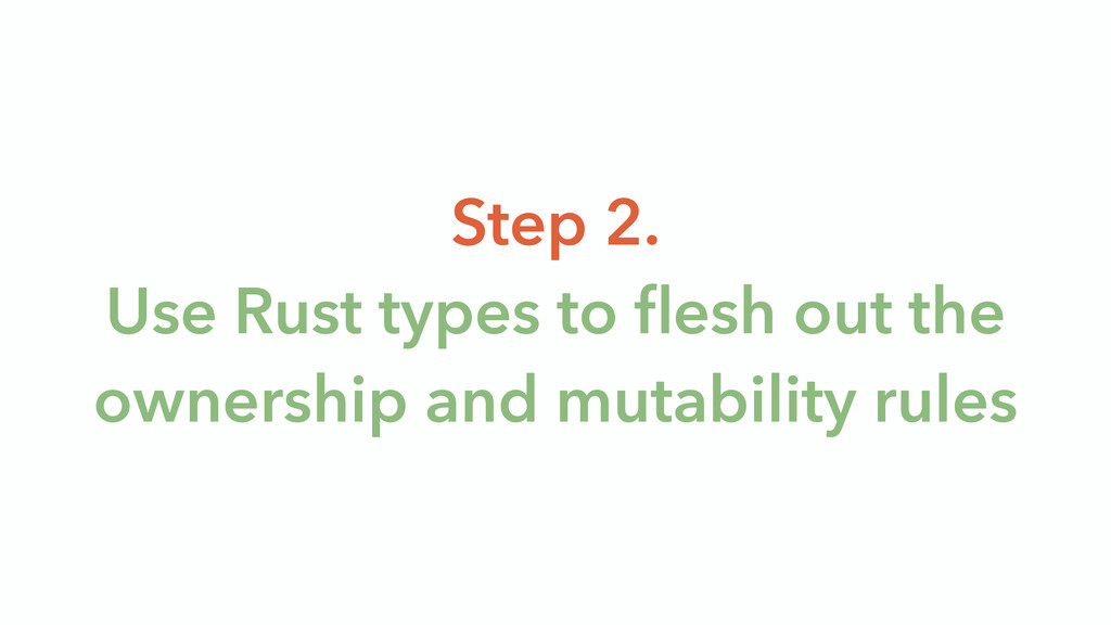 Step 2. Use Rust types to flesh out the ownersh...