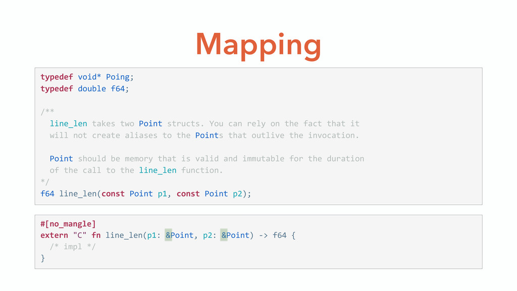 Mapping typedef void* Poing;  typedef doubl...