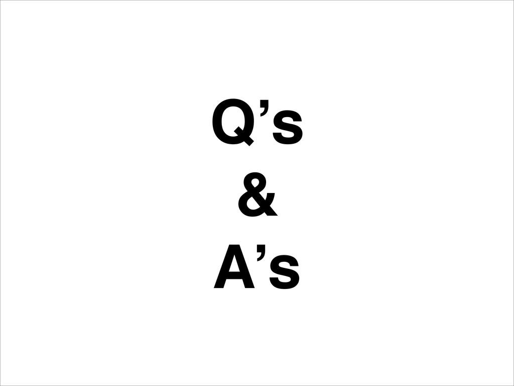 Q's! &! A's
