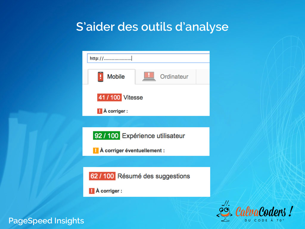 S'aider des outils d'analyse PageSpeed Insights