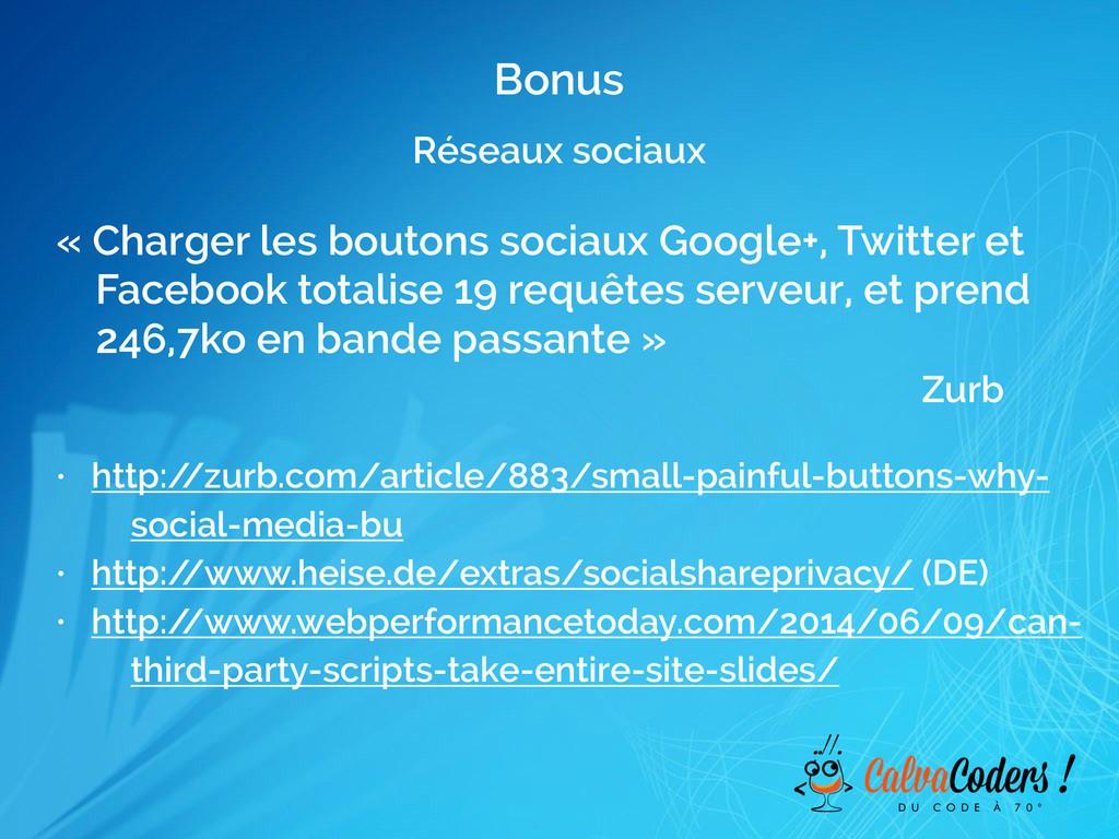 Réseaux sociaux Bonus « Charger les boutons soc...