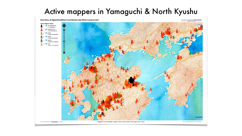 Active mappers in Yamaguchi & North Kyushu