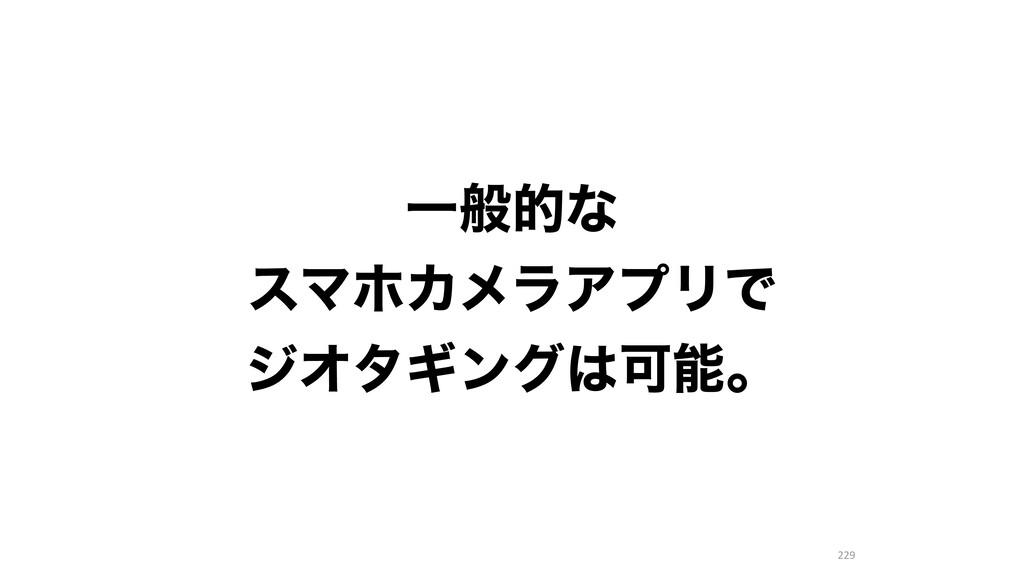 229 Ұൠతͳ εϚϗΧϝϥΞϓϦͰ δΦλΪϯάՄɻ
