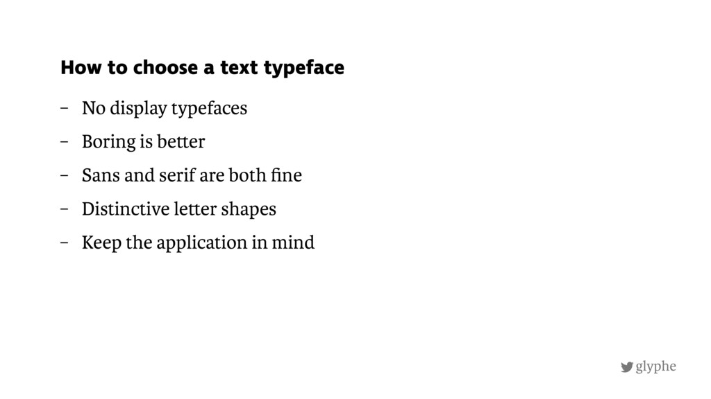 glyphe – No display typefaces – Boring is be er...