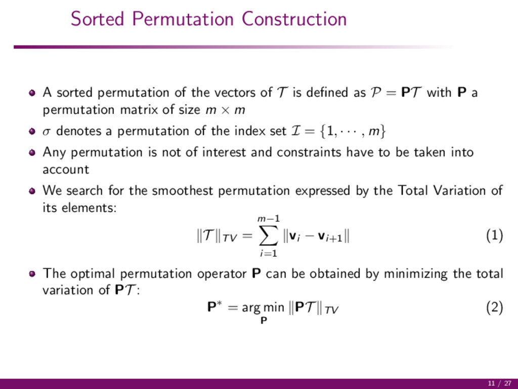 Sorted Permutation Construction A sorted permut...