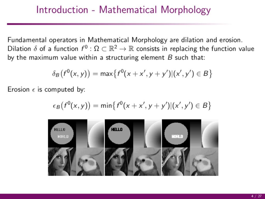 Introduction - Mathematical Morphology Fundamen...