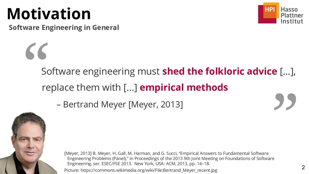 Motivation 2 Software Engineering in General So...
