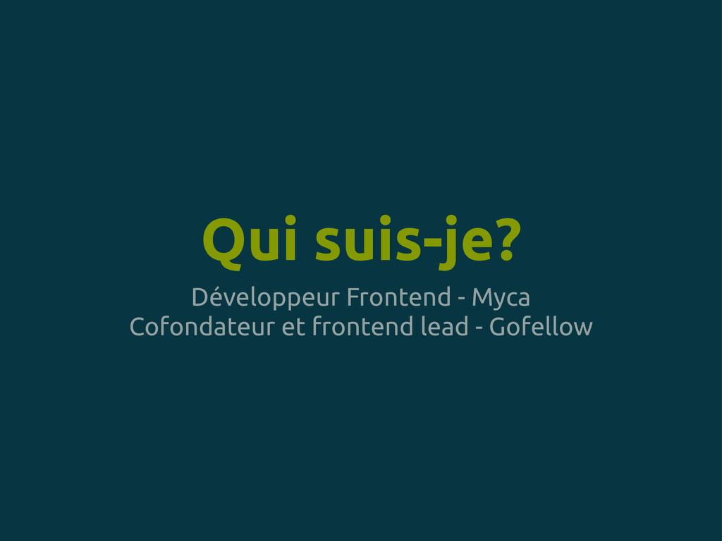 Qui suis-je? Développeur Frontend - Myca Cofond...