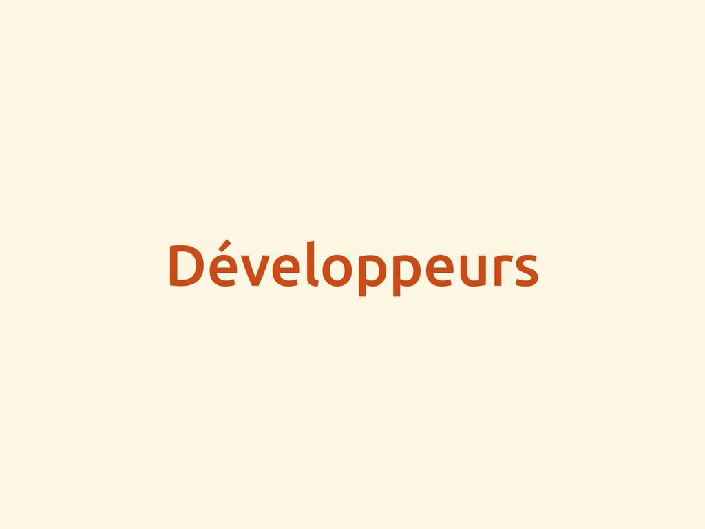 Développeurs