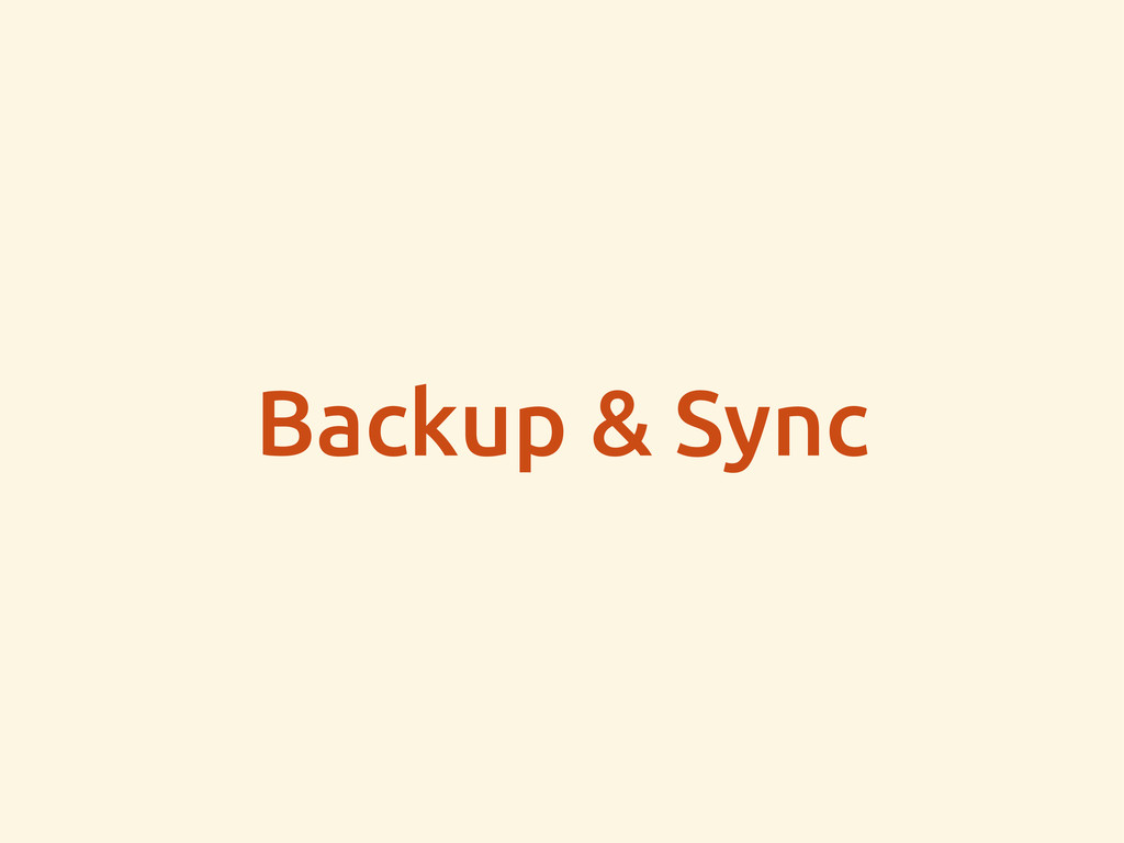 Backup & Sync