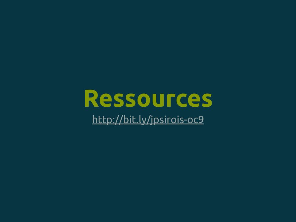 http://bit.ly/jpsirois-oc9 Ressources