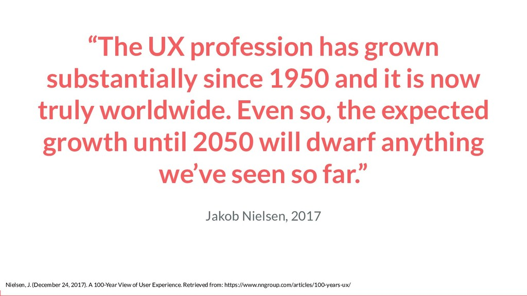 """The UX profession has grown substantially sinc..."