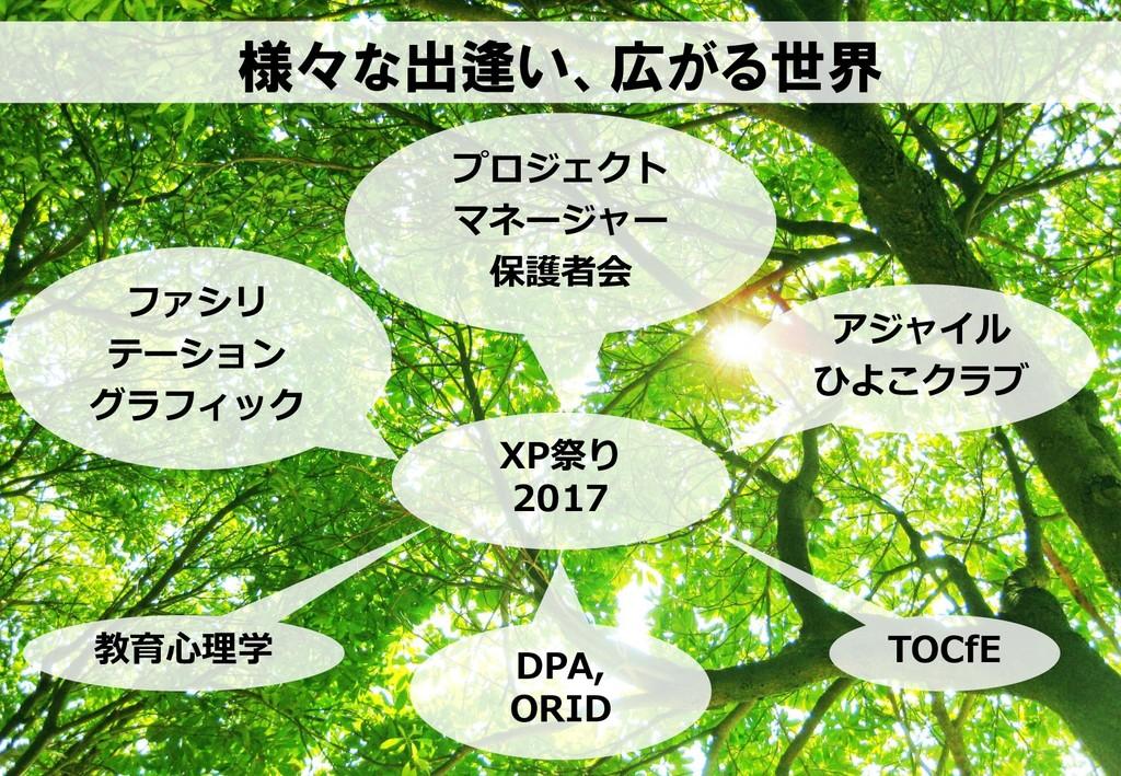 様々な出逢い、広がる世界 XP祭り 2017 ファシリ テーション グラフィック プロジェクト...