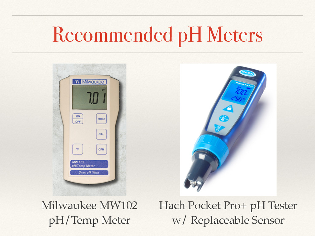 Recommended pH Meters Hach Pocket Pro+ pH Teste...