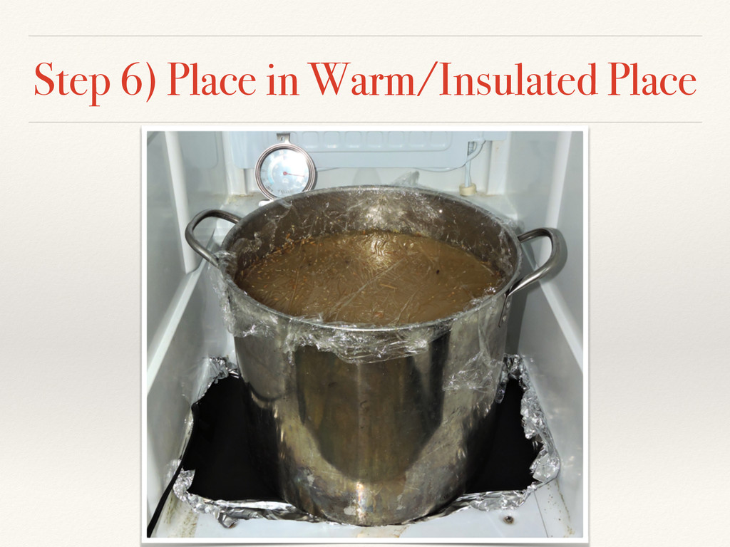 Step 6) Place in Warm/Insulated Place