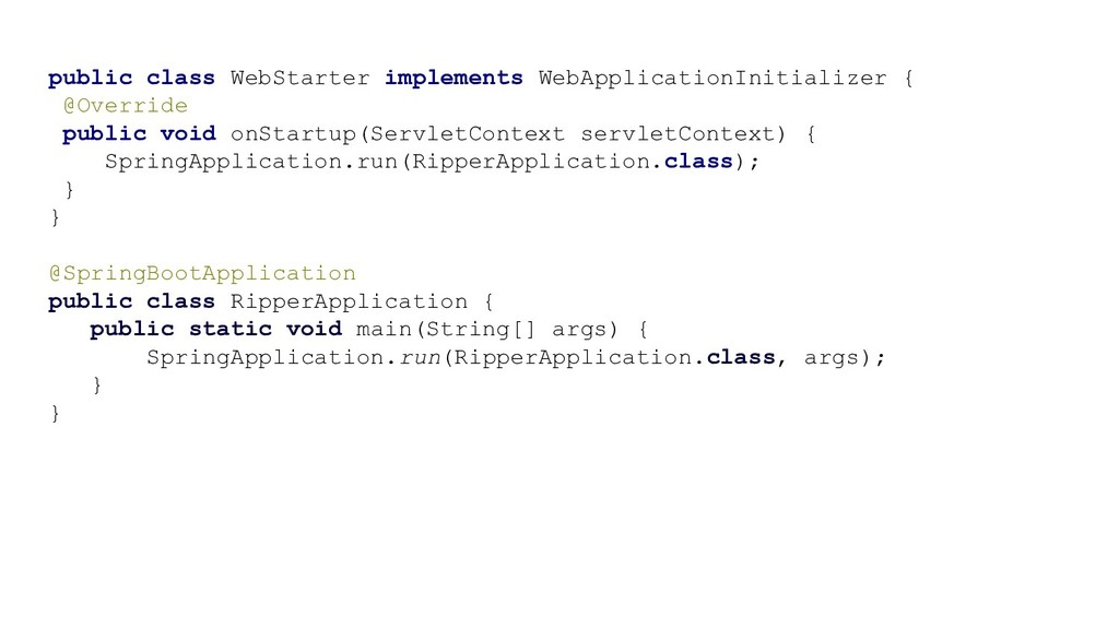 public class WebStarter implements WebApplicati...