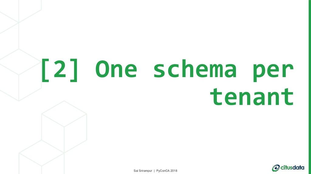 Sai Srirampur | PyConCA 2018 [2] One schema per...