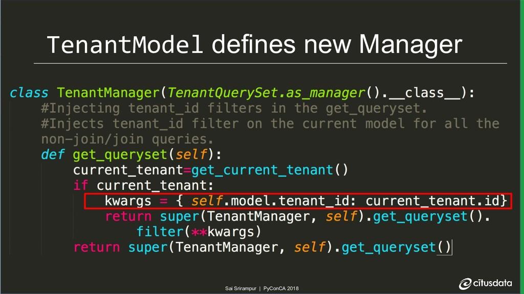 Sai Srirampur | PyConCA 2018 TenantModel define...