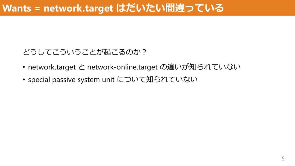 Wants = network.target はだいたい間違っている 5 どうしてこういうこと...