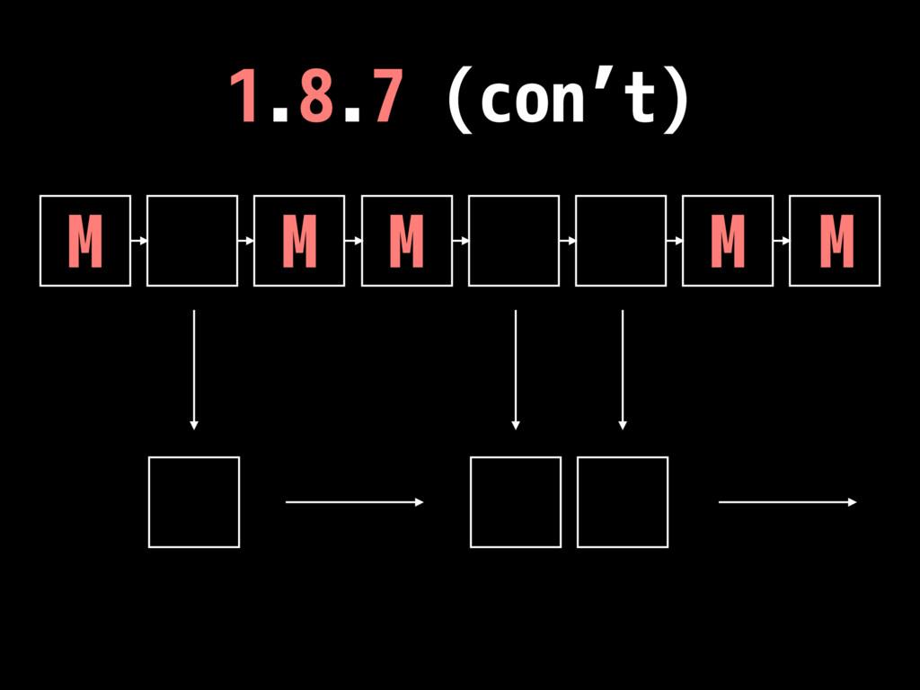 1.8.7 (con't) M M M M M